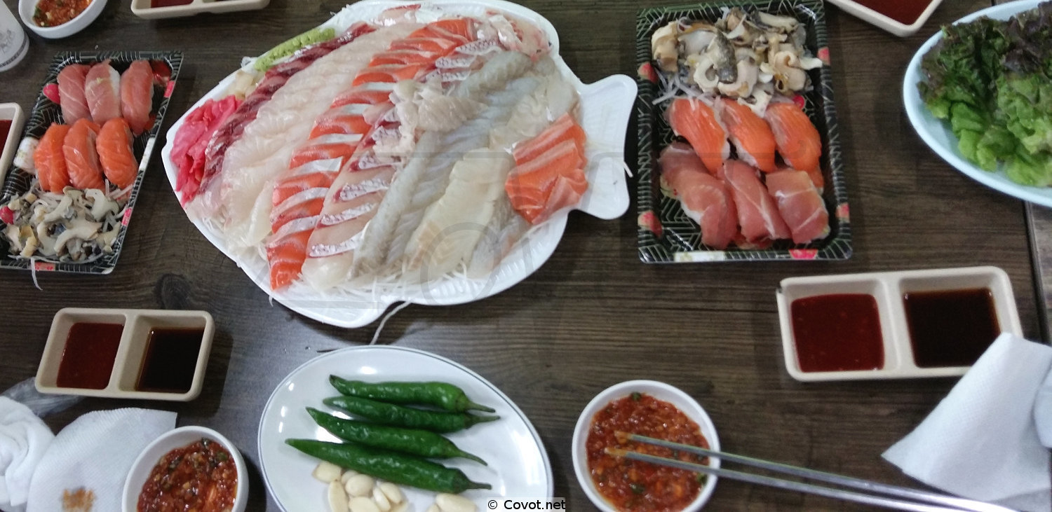 Korean fish market food